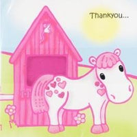 Pony Thank You Cards