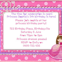 Princess Personalised Invite