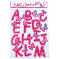 Rainbow Butterfly Alphabet Wall Stickers