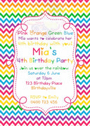 Rainbow Personalised Invite
