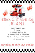 Roary Racing Personalised Invite