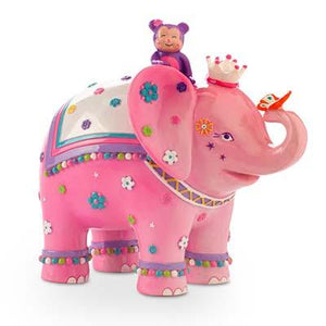 Daisy Elephant Pink Money Box