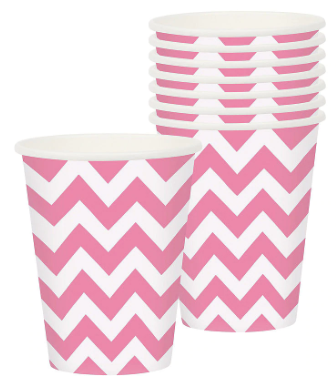 Pink Chevron Cups
