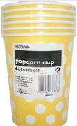 Yellow Polka Dots Popcorn Cups