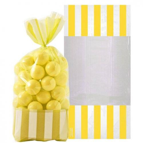 Yellow Stripe Cello Bags