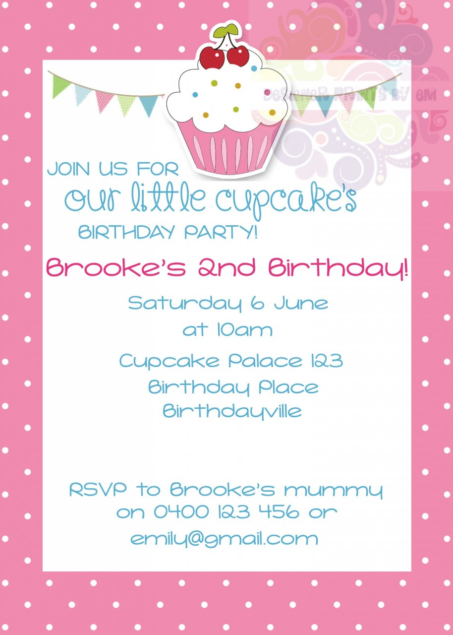 Sweet Treats Personalised Invite