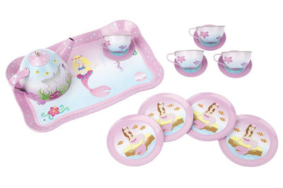 Mystic Mermaid Tin Tea Set