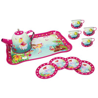 Forest Fairy Green Tin Tea Set
