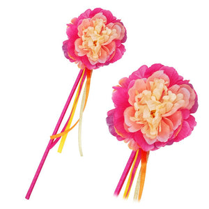 Peony Flower Fairy Hot Pink Wand