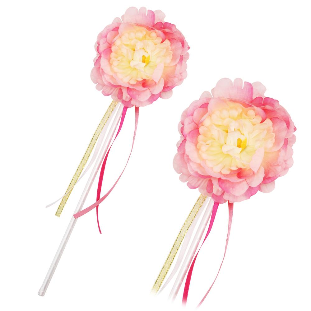 Peony Flower Fairy Pale Pink Wand
