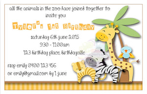 Zoo Personalised Invite