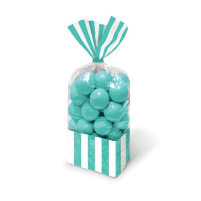Aqua Stripe Cello Bags