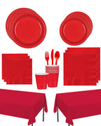 Apple Red Party Kit - 20 people