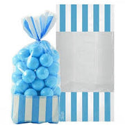 Carribean Blue Stripe Cello Bags