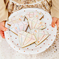 Rose Gold Dots Large Plate