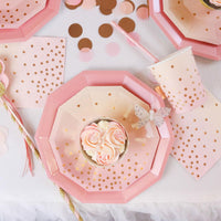 Pink Foil Large Plate