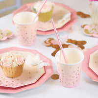 Pink & Peach Cups
