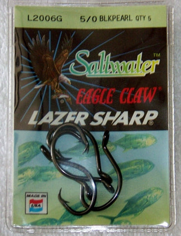 Circle Hooks-Lazer Sharp Platinum Black L2006G