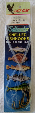 Striped Bass Baitholder Snelled  hooks  Gold  9214 6/pk