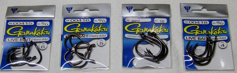 Gamakatsu Heavy Duty Live Bait Hook -small packs