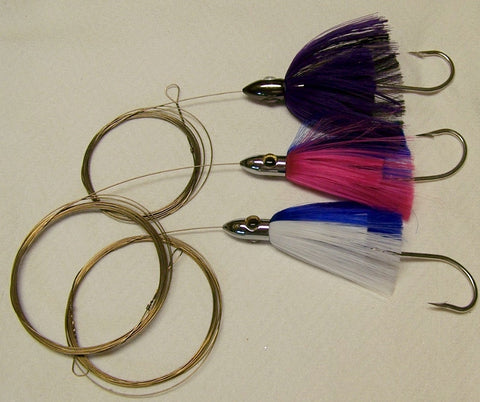 DR J  Lure Wire Pin Rigged for Small-Medium  Ballyhoo Great for Wahoo, Kingfish