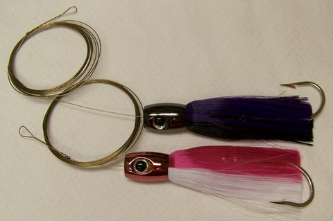 DR J  Chugger Head Wahoo Lure Pin Rigged for Large Hoo's