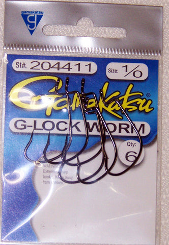 Gamakatsu G-Lock Worm Hook Black