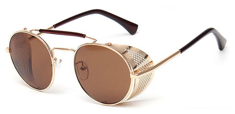 Image of TrendyMate Retro Steampunk Sunglasses Round Design for Man and Woman