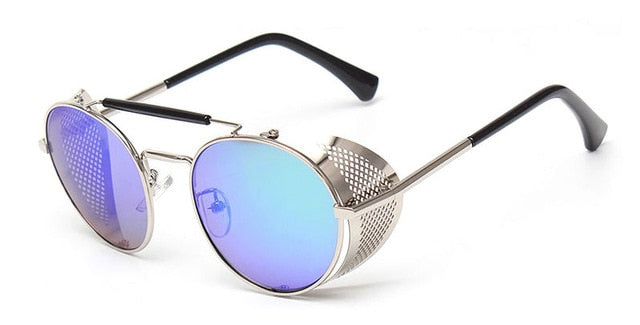 TrendyMate Retro Steampunk Sunglasses Round Design for Man and Woman