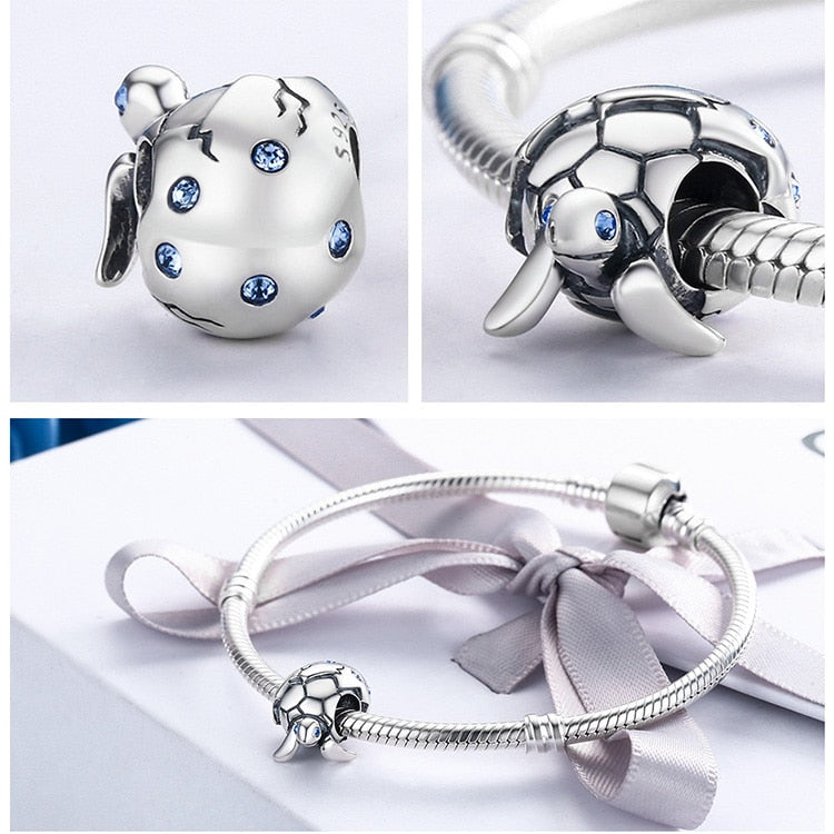 Cute Design Sterling Silver Reborn Turtle Bracelets