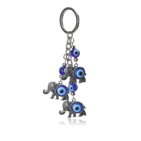 Image of Blue Eye Elephant Keychain