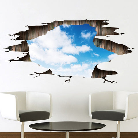 Image of 3d cosmic space galaxy wall stickers for kids rooms