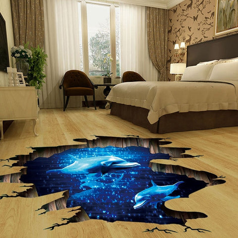 3d cosmic space galaxy wall stickers for kids rooms