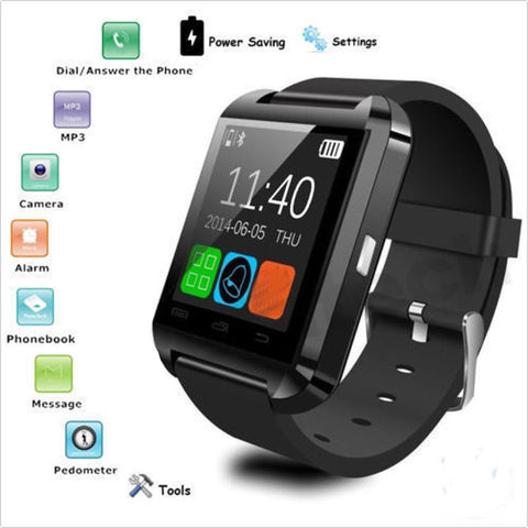 Image of Smart Watch with Bluetooth and  Camera For iPhone and Android