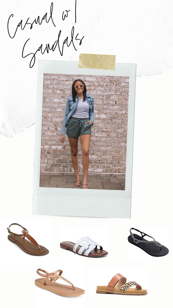 Tall girl outfit inspiration for size 12 sandals