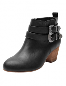 Luoika Women's Wide Width Ankle Boots - Mid Chunky Block Heels Round Toe Slip on Side Zipper Booties.