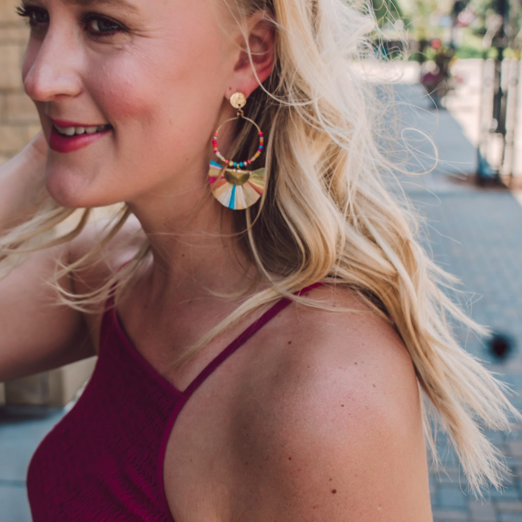 Multicolored Fringe Drop Earring