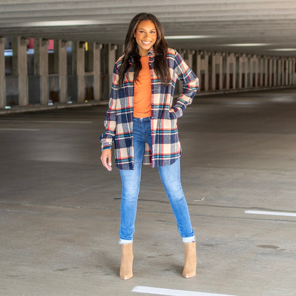 Tall shacket with long inseam Jackson Skinny jeans for tall girls- Amalli Talli