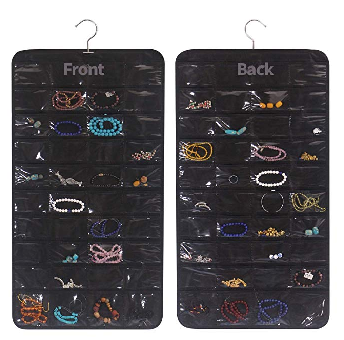 DIOMMELL 80 Pockets Hanging Jewelry Organizer for Women