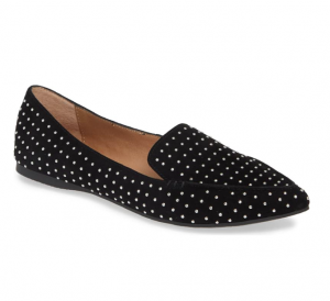 Feather Studded Loafer in Black Steve Madden