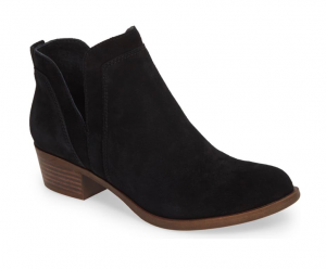 Lucky Brand Bebhina Waterproof Western Bootie in Black