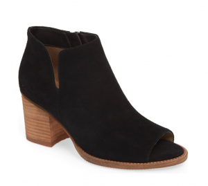 Blondo Nappa Waterproof Open Toe Bootie in Black