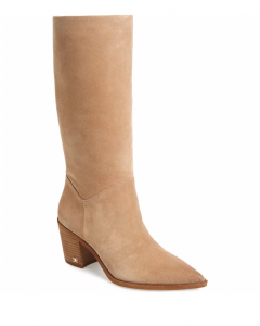 Sam Edelman Leahla Boot in Oatmeal Suede