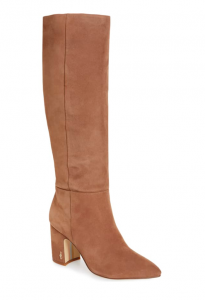 Sam Edelman Hiltin Knee High Boot in Praline Suede