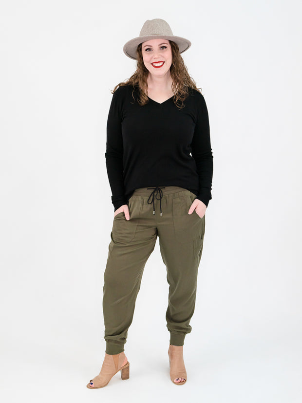 Tencel Tall Joggers - Olive