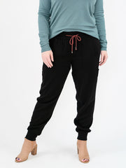 Tencel Tall Joggers - Black