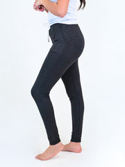 tall joggers for women black