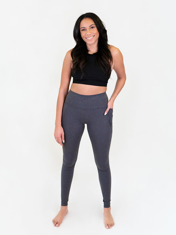leggings for tall women - heathered grey