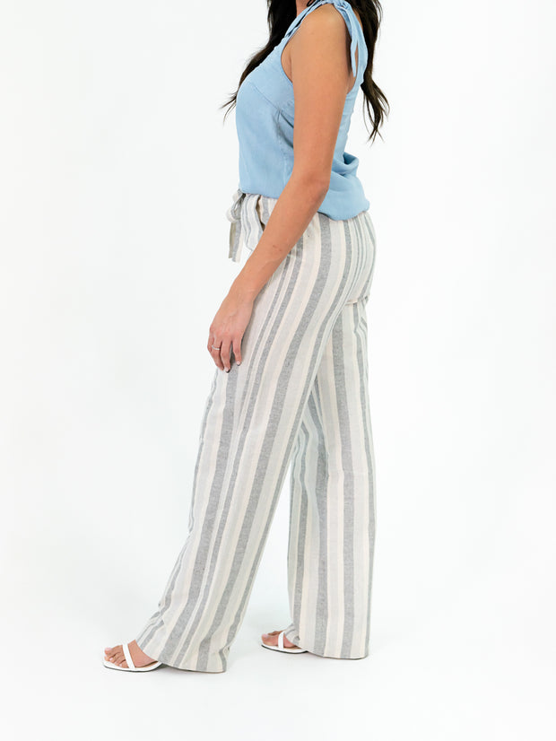 Seaside Striped Tall Pant