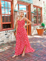 Extra long red maxi dress for tall women